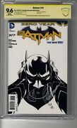 Batman 2011 24 1100 Sketch Ri - Cbcs 9.6 White Pages- Ss2x Capullo And Snyder