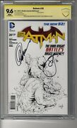 Batman 2011 20 1100 Sketch Ri - Cbcs 9.6 White Pages Ss2x Capullo And Snyder