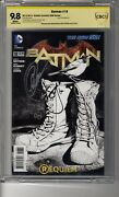 Batman 2011 18 1100 Sketch Ri - Cbcs 9.8 White Pages- Ss2x Capullo And Snyder