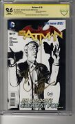 Batman 2011 19 1100 Sketch Ri - Cbcs 9.6 White Pages- Ss2x Capullo And Snyder