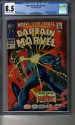 Marvel Super-heroes 1968 13 - Cgc 8.5 Ow/white Pages - First Carol Danvers