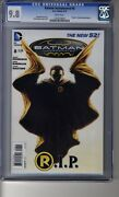 Batman Incorporated 2012 8 - Cgc 9.8 White Pages - Death Of Damien Wayne