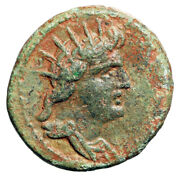 Islands Of Caria, Rhodes Roman Rule Radiate Helios And Nike, Grapes Very Rare