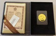 1979 Canada 100 1/2 Oz Gold Proof Coin With Presentation Case And Coa