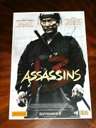Director Takashi Miike Signed 13 Assassins 12x18 Foreign Movie Poster