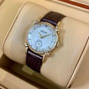 Lecoultre Vintage Small Seconds 29mm, Silver Dial - Yellow Gold On Strap