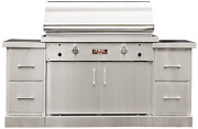 Tec 44 Sterling Patio Infrared Gas Bbq Grill On Island W/ Drawer Modules 73