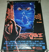 The Gate 2 Return To The Nightmare Original Vintage Vhs One Sheet Poster 1sh
