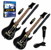 Ps4 Guitar Hero Live Supreme Party2x Guitars2x Dongles2x Strapsgh Micgame