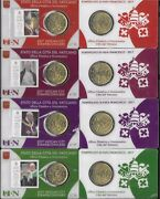 Vatican 2017 Pontificate Of His Holiness Pope Francis Stamp And Coin Cards Set