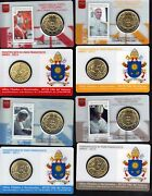 Vatican 2015 Pontificate Of His Holiness Pope Francis Stamp And Coin Cards Set
