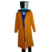 Alice In Wonderland Mad Hatter Adult Men Halloween Party Cosplay Costume A018