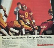 1982 Vintage Print Ad Sports Illustrated Subscription Football Color Photography