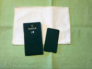 Authentic New Style ❗️rolex Velvet Travel Pocket Pouch And Cleaning Cloth Set.