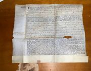 1758 Maryland Land Grant Horatio Sharpe On Vellum With State Seal