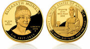 2008-w Elizabeth Monroe First Spouse 1/2 Oz 9999 Proof Gold 10 Coin W Box And Coa