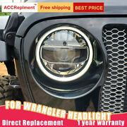 For Jeep Wrangler Headlights Assembly All Led Lens Projector Led Drl 2018-2020