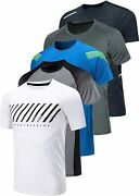 5 Pack Menandrsquos Active Quick Dry Crew Neck T Shirts | Athletic Running Gym Workout