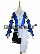 Final Fantasy Xii 12 Yuna Lenne Song Dress Cosplay Costume