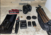 Canon Eos 70d Dslr W/ 18-55mm And Extras