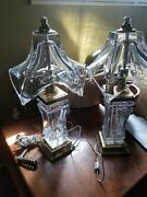 Cofrac Art Verrier Crystal French Lamps