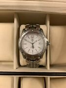 Tag Heuer Link Professional Wt1114 Mens Stainless Steel Watch. White Face