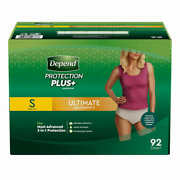 Depend Plus Ultimate Underwear For Women Small = 92-count