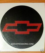 Chevy Bowtie Round 5.125 Overlay Decals Choose Your Colors 4 In A Set