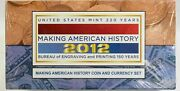 2012 Making American History Coin And Currency Sets Sealed / Unopened
