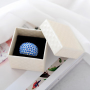 720x Jewelry White Ring Boxes Stud Earrings Small Hard Square Cube Birthdays Box
