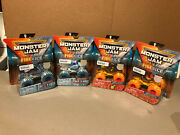 Set Of 4 Monster Jam Fire And Ice Dragonoid, Northern Nightmare, Soldier Fortune W