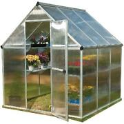 Palram Mythos - 6and039 X 6and039 - Silver - Walk-in Greenhouse