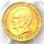 1917 Mckinley Commemorative Gold Dollar Coin G1. Pcgs Uncirculated Detail Unc