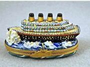 Titanic Boat Limoges Box - Authentic Peint Main France French - Brand New