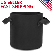 6 Pk Plant Grow Bags Fabric Pot Nursery Soil Bag With Handles Thickened Nonwoven