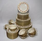 Castleton China Victoria Pattern 60-piece Set Service For 12 - Place Settings