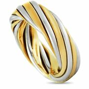 And Vintage 18k White And Yellow Gold Band Ring