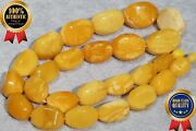 High Class Antique Yellow White Baltic Collectible Natural Amber Necklace 73 G