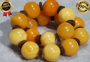 Antique Natural Baltic Collectible Amber Bracelet 12 G Fedex Fast Shipping