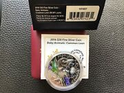 2016 20 1oz.9999 Silver Proof Baby Animals 9 Common Loon Chick Canada