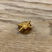 Vintage Us Army Military Insignia Pin Crossed Cannons Coast Artillery Wwii 12 Kt