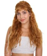 Frozen 2 | Womenand039s Brown Medium Length Curly Anna Wig Hw-3813