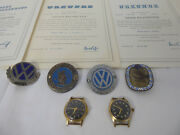 100000 Km St. Christopher And Vw 100000 Km Late Badge Split Oval Bug And Two Watches