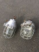 Vintage Polished Industrial Cage Lamps Steel Silver Price Per Lamp