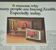 Zenith Solid State Chromacolor Ii Tv Cezanne Daumier 1975 Vintage Print Ad
