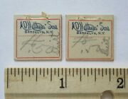 2 Antique 1900s A.d. Matthews And Son Brooklyn New York Store Nyc Shirt Price Tags