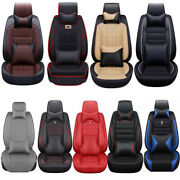 Universal 5sit Car Seat Covers Front Rear Pu Leather Accessories Seat Cushion Us
