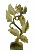 13 Wooden Leaves Sculpture Decor On Stand Hand Carved Wood Decorative Accent