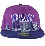 New Era Mlb 59fifty City Line Miami Fitted Caps, Time Is Money G Hip Hop Star