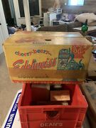 Lot Of 2 Vintage 1959 Edelweiss Beer Cardboard Wax Box Carrier Crate Case